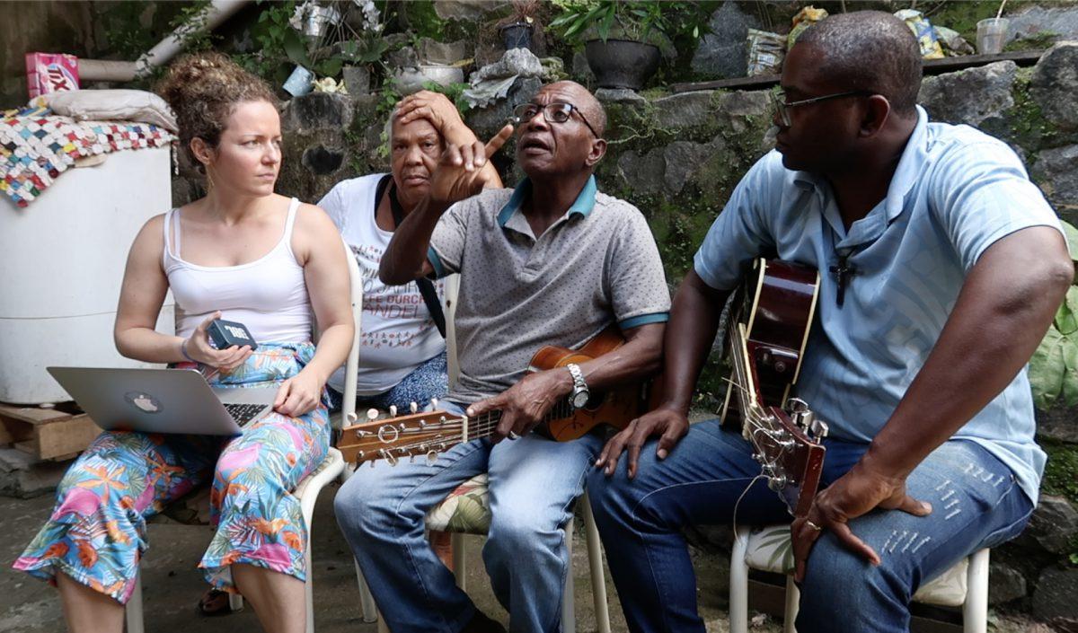 Nina Graeff, Nicinha do Samba, Mestre Celino, Alexnaldo Santos. Terra Nova, setembro de 2019. ©Nina Graeff