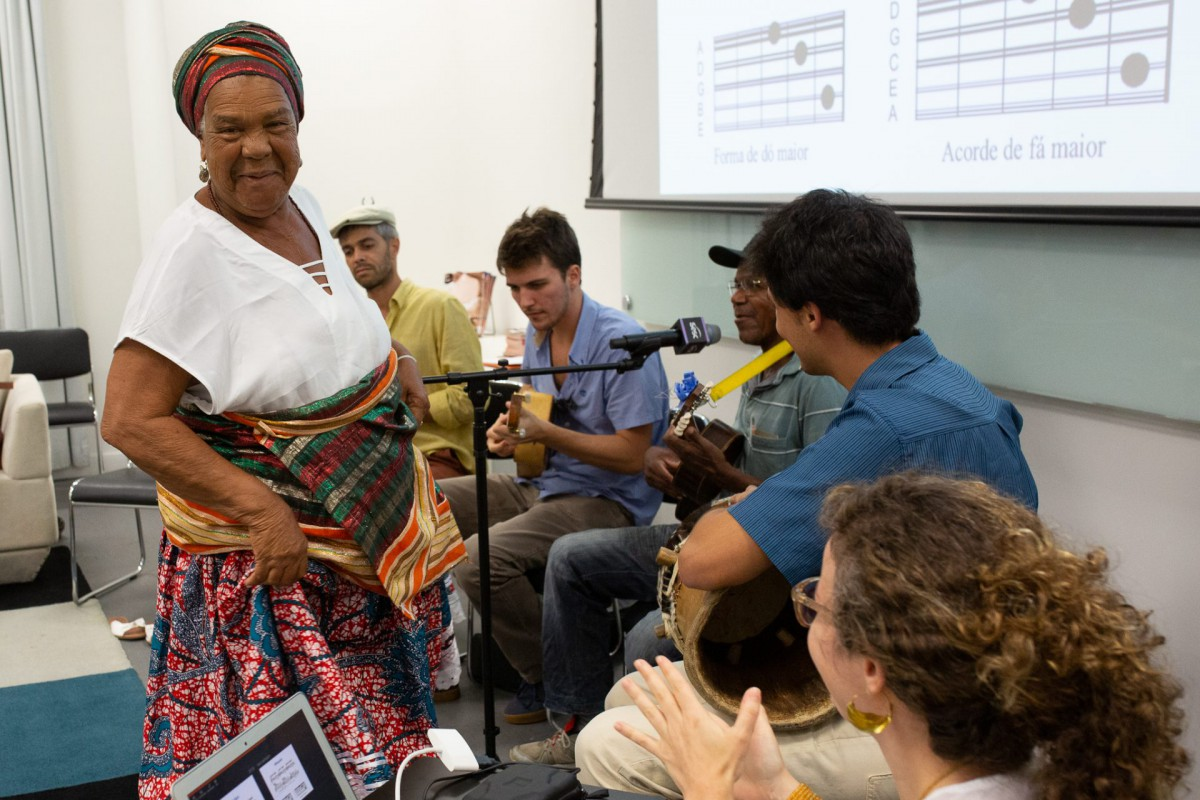 Nicinha, Rodrigo Minhoca, Júnio e Mário Lamparellli, Mestre Aurino e Nina Graeff, SESC CPF, fevereiro de 2019. ©Rogério Pixote